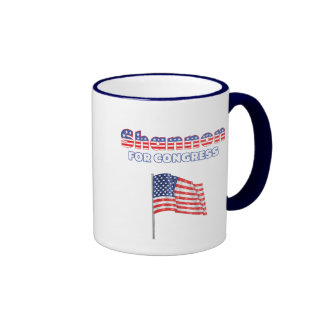 Shannon for Congress Patriotic American Flag Mugs