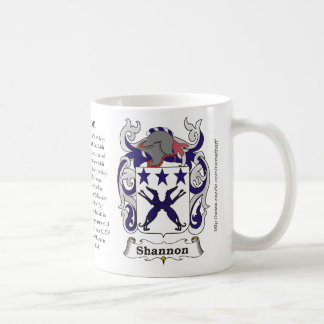 Shannon, the origin, meaning and the crest coffee mug