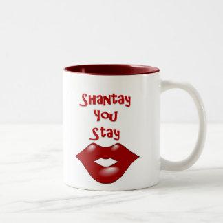 Shantay You Stay / Sashay Away Two-Tone Mug
