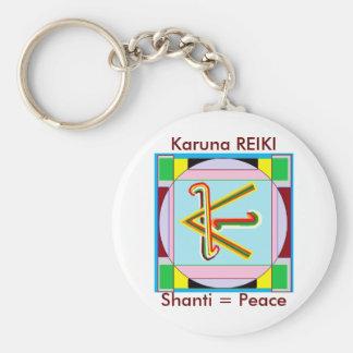 Shanti i.e. Peace: Karuna Reiki Healing Symbol Keychain