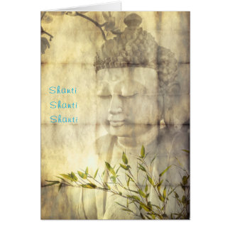 Shanti (Peace) Buddha Yoga Meditation Note Cards