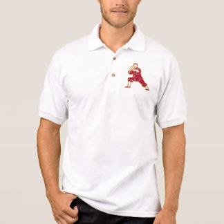 Shaolin Kung Fu Martial Arts Master Retro Polo T-shirt