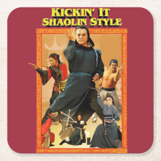 Shaolin Kung Fu Square Paper Coaster