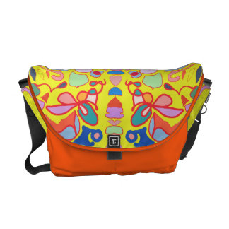 Shape abstraction messenger bags
