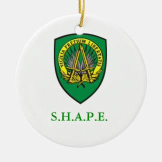 SHAPE Shield Christmas Ornament