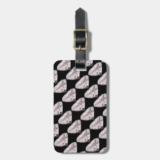 shaped diamonds pattern bag tag