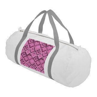 shaped memory of the 60s pink gym duffel bag