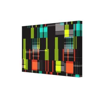 Shapes abstract design canvas print