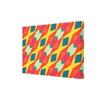Shapes chains pattern abstract design gallery wrap canvas