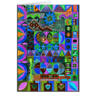Shapes in bold colors card