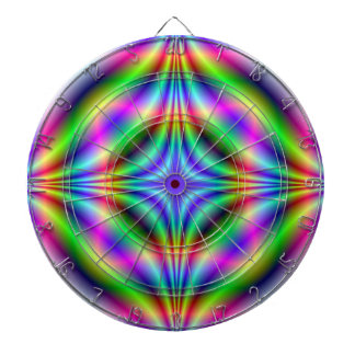 Shapes in Neon Colors Dartboard