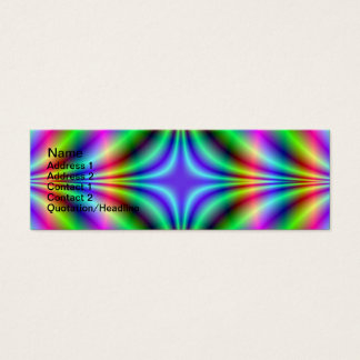 Shapes in Neon Mini Business Card