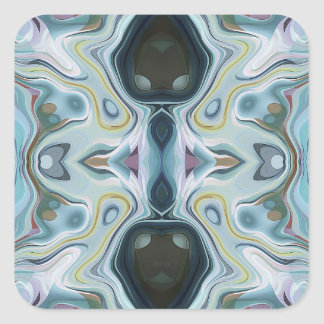 Shapes of Abstract Symmetry Square Sticker