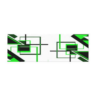 shapes of green&white canvas print