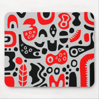 Shapes - On Light Gray Mouse Mat