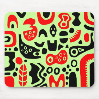 Shapes - On Pale Green Mouse Mat