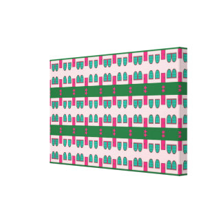 Shapes pattern abstract design gallery wrap canvas