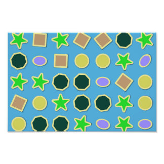 Shapes stickers photographic print
