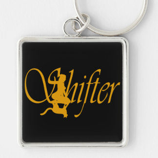 Shapeshifter Silver-Colored Square Key Ring