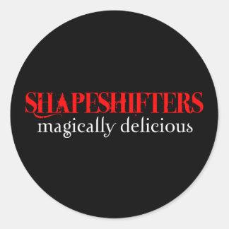 Shapeshifters Round Sticker