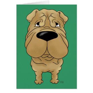 Shar-Pei - Big Nose and Butt Greeting Card