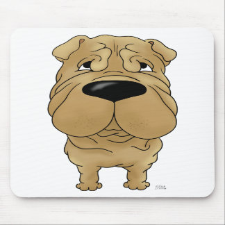 Shar-Pei - Big Nose and Butt Mouse Pads