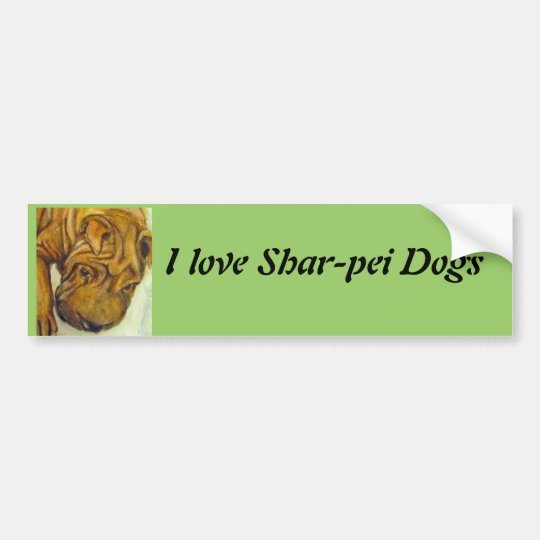 Shar-Pei Dogs bumper sticker