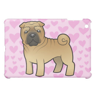 Shar Pei Love (add your own background) iPad Mini Covers
