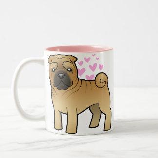 Shar Pei Love Two-Tone Coffee Mug