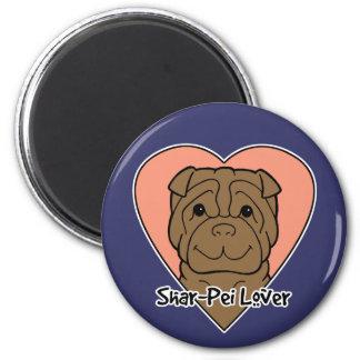 Shar-Pei Lover 6 Cm Round Magnet