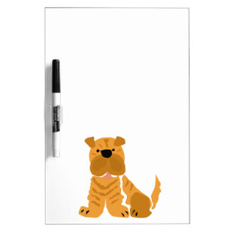Shar Pei Primitive Art Design Dry Erase White Board