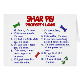 SHAR PEI Property Laws 2 Greeting Card