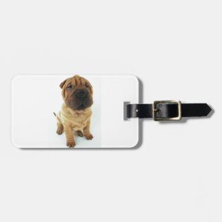 Shar pei puppy products luggage tag