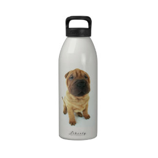 Shar pei puppy products reusable water bottle