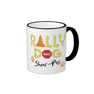 Shar-Pei Rally Dog Coffee Mugs