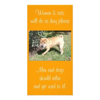 Shar Pei Rescue Blank CArd Photo Card Template