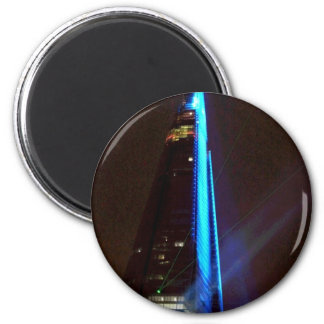 Shard Laser Light Show Opening Night 6 Cm Round Magnet