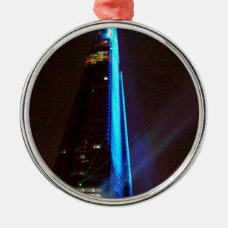Shard Laser Light Show Opening Night Christmas Ornament