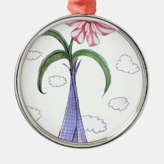 ShardArt 2 by Tony Fernandes Silver-Colored Round Decoration