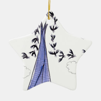 ShardArt Blue Skies by Tony Fernandes Ceramic Star Decoration