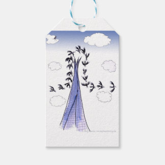 ShardArt Blue Skies by Tony Fernandes Gift Tags