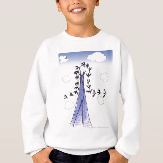 ShardArt Blue Skies by Tony Fernandes Sweatshirt