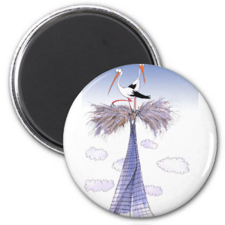 ShardArt Unwelcome Visitors by Tony Fernandes 6 Cm Round Magnet
