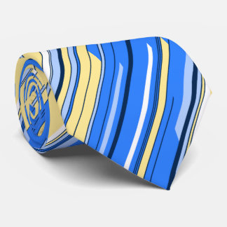 Shards Geometric Diagonal Striped Blue Two-sided Tie