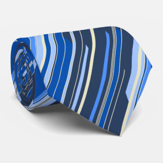 Shards Geometric Diagonal Striped Navy Two-sided Tie