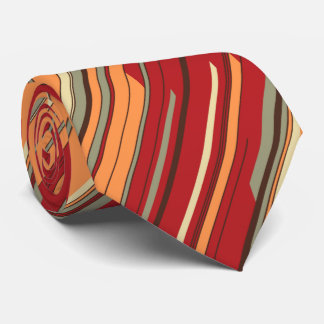 Shards Geometric Diagonal Striped Red Two-sided Tie