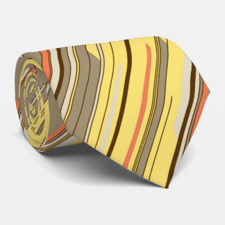 Shards Geometric Diagonal Striped Yellow Two-sided Tie