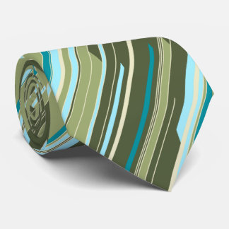 Shards Geometric Striped Olive Two-sided Tie