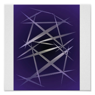 Shards in Purple Poster