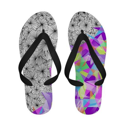 Shards of Contrast- Flip Flops